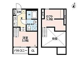 アパートメント友丘[102号室]の間取り