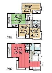 [一戸建] 千葉県千葉市中央区都町 の賃貸【/】の間取り