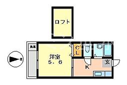 兵庫県神戸市垂水区霞ケ丘4丁目の賃貸アパートの間取り