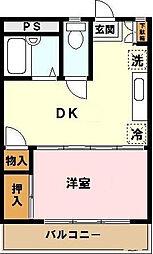 東京都足立区伊興2の賃貸マンションの間取り