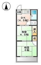 ヤシロコーポラス[2階]の間取り