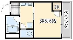 ローブル尾崎[3D号室]の間取り