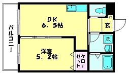 ア・ルーラ東合川[2階]の間取り