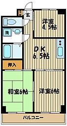 東京都府中市是政6丁目の賃貸マンションの間取り