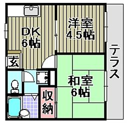 サニーコート泉佐野[B210号室]の間取り