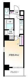 東京メトロ南北線 麻布十番駅 徒歩8分の賃貸マンション 4階1Kの間取り