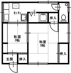兵庫県豊岡市正法寺の賃貸アパートの間取り