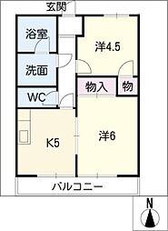 YM PALACE[1階]の間取り