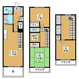 ロイヤルガーデンA[1階]の間取り