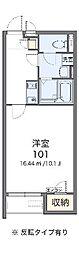 兵庫県加古郡播磨町南大中3丁目の賃貸アパートの間取り