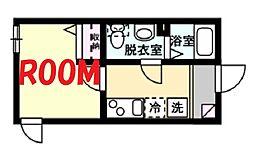 金沢シーサイドライン 野島公園駅 徒歩10分の賃貸アパート 1階1Kの間取り
