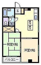 ホワイトハイツ川口ビル[1階]の間取り