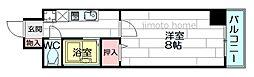 江坂ニュー白百合[4階]の間取り