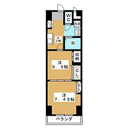 プレステージ宇都宮[12階]の間取り