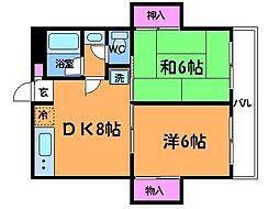 NAKAHARA VIP ROYAL[1階]の間取り