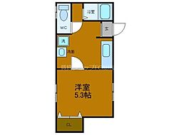 南海線 難波駅 徒歩5分の賃貸マンション 3階1Kの間取り