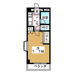サングレート泉崎[3階]の間取り