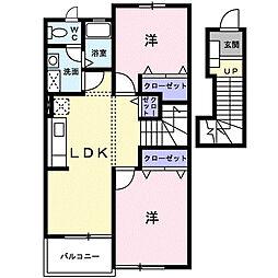 サニ−コ−トII A棟[203号室]の間取り