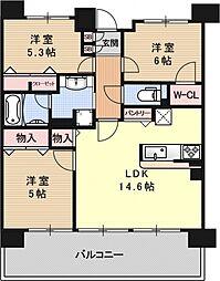 パデシオン京都七条ミッドパーク[227号室号室]の間取り
