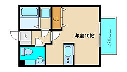 Mフロンティア[1階]の間取り