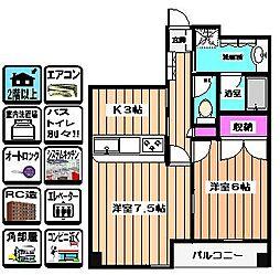 CASA・MONTANA[402号室]の間取り