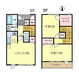 [タウンハウス] 東京都八王子市西片倉2丁目 の賃貸【/】の間取り