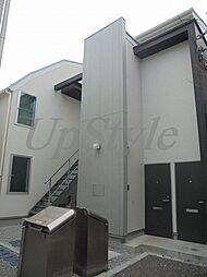 東京都北区上中里1丁目の賃貸アパートの外観