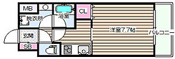 プレジオ都島[10階]の間取り