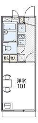 北大阪急行電鉄 桃山台駅 徒歩16分の賃貸アパート 2階1Kの間取り