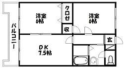 アーバンSTM[2階]の間取り