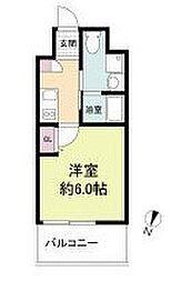 阪急京都本線 上新庄駅 徒歩3分の賃貸マンション 9階1Kの間取り