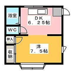 アイリスI[2階]の間取り
