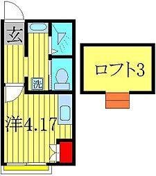 ROSSO高柳[2階]の間取り