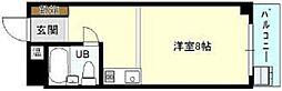 近鉄南大阪線 上ノ太子駅 徒歩5分の賃貸マンション 3階1Kの間取り