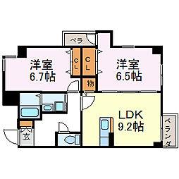 SUN NAGATA[2階]の間取り
