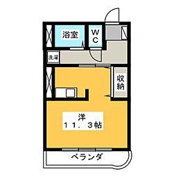 セピアコート18[3階]の間取り