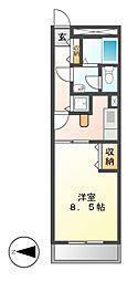 A-WING[1階]の間取り