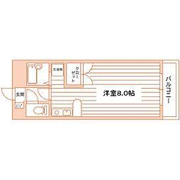 エクセル塩釜III[1K号室]の間取り