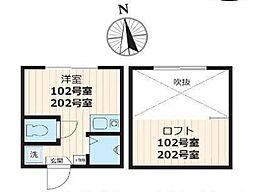 スタジオアパートメント大久保[102号室号室]の間取り