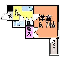 愛媛県松山市湊町4丁目の賃貸マンションの間取り
