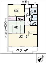 ふじ第二マンション[2階]の間取り
