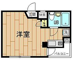 神奈川県川崎市中原区小杉町1丁目の賃貸マンションの間取り