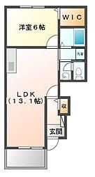 スカイワンII[1階]の間取り