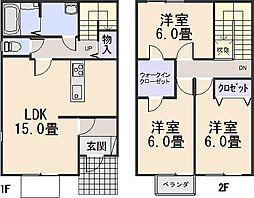 [テラスハウス] 京都府木津川市梅美台7丁目 の賃貸【/】の間取り