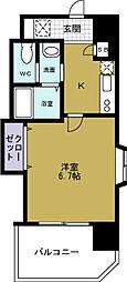 ラグゼドーム前1[3階]の間取り