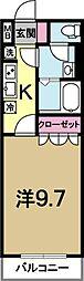 PURE HEART(ピュアハート)[1階]の間取り