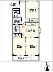 コンフォース・M・K[1階]の間取り