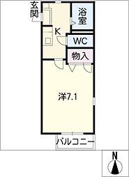 アビタシオンN[1階]の間取り