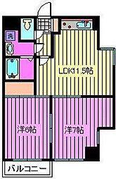 プレステージ富士[3階]の間取り