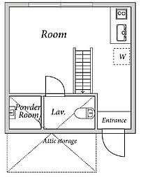 Grand Studio 新都心[2階]の間取り